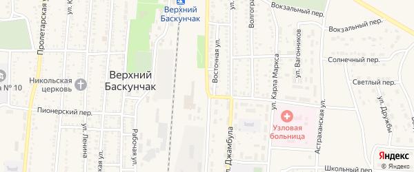 Абая улица на карте поселка Верхнего Баскунчака Астраханской области с номерами домов