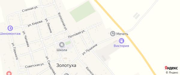 Студенческая улица на карте села Золотухи Астраханской области с номерами домов