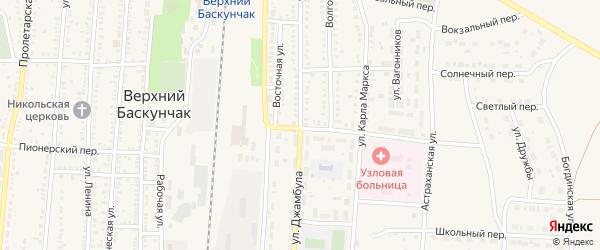 Улица Джамбула на карте поселка Верхнего Баскунчака Астраханской области с номерами домов