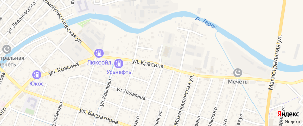 Улица Красина на карте Кизляра с номерами домов