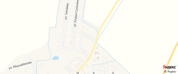 Улица Гагарина на карте Юбилейного села Дагестана с номерами домов