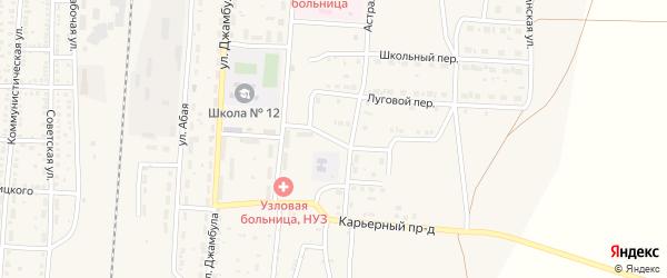 Молодежный переулок на карте поселка Верхнего Баскунчака Астраханской области с номерами домов