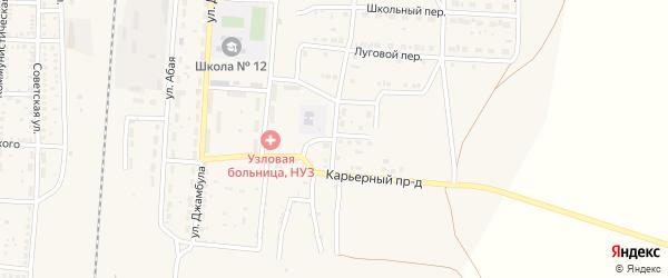 Гипсовый переулок на карте поселка Верхнего Баскунчака Астраханской области с номерами домов