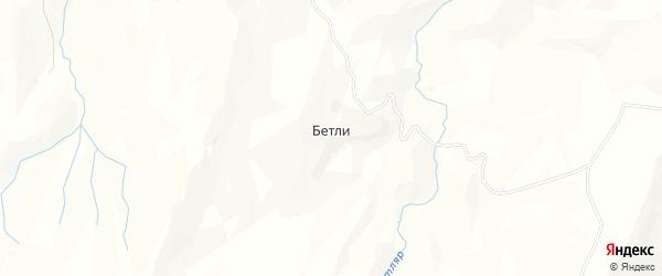 Карта хутора Бетли в Дагестане с улицами и номерами домов