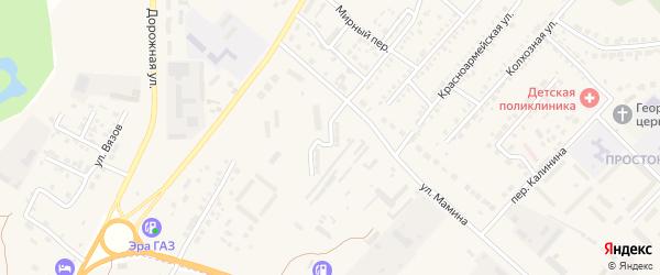 Воинская улица на карте Маркса с номерами домов