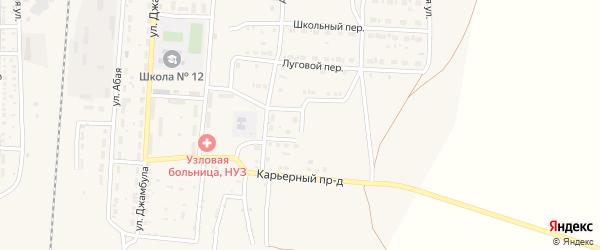 Красная улица на карте поселка Верхнего Баскунчака Астраханской области с номерами домов