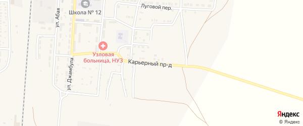 Карьерный проезд на карте поселка Верхнего Баскунчака Астраханской области с номерами домов