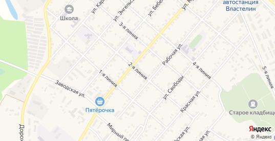 2-я линия в Марксе с номерами домов на карте. Спутник и схема онлайн