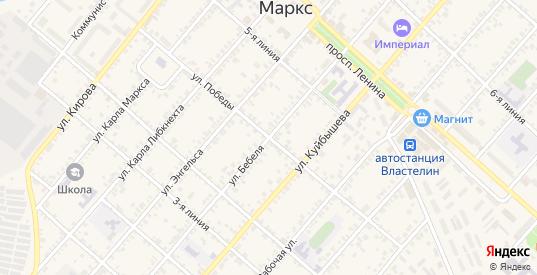 Улица Победы в Марксе с номерами домов на карте. Спутник и схема онлайн