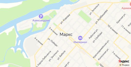 СТ Муза на карте Маркса с номерами домов