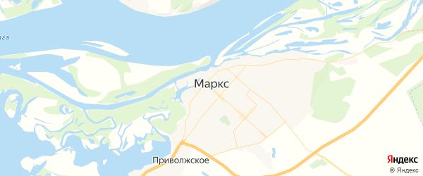 Карта Маркса с районами, улицами и номерами домов