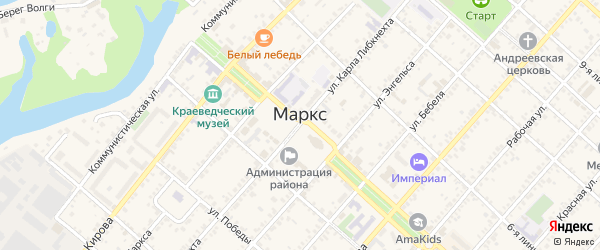 13-я линия на карте Маркса с номерами домов