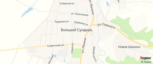 СТ Иволга на карте села Большого Сундыря с номерами домов