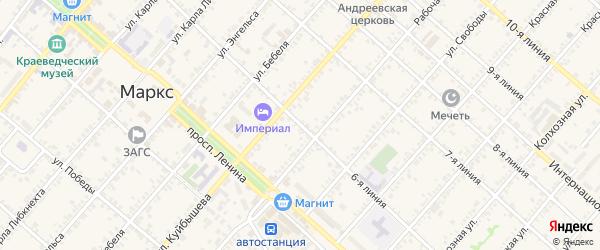 6-я линия на карте Маркса с номерами домов