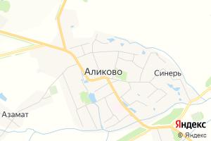 Карта с. Аликово Чувашская Республика