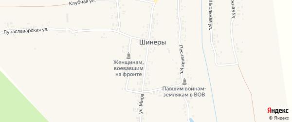 Улица Мира на карте деревни Шинеры с номерами домов