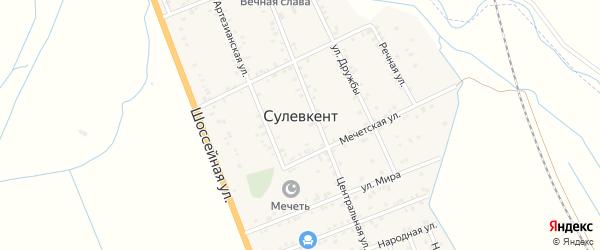 Береговая улица на карте села Сулевкента с номерами домов