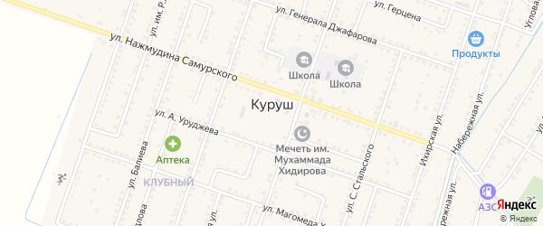 Линейная улица на карте села Куруша Дагестана с номерами домов