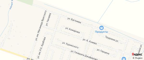 Улица Комарова на карте села Куруша с номерами домов