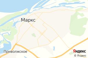 Карта г. Маркс Саратовская область
