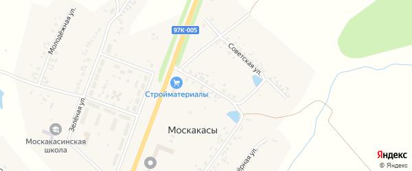 Улица Желтова на карте деревни Москакасы Чувашии с номерами домов