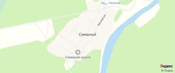 Карта Северного поселка в Архангельской области с улицами и номерами домов