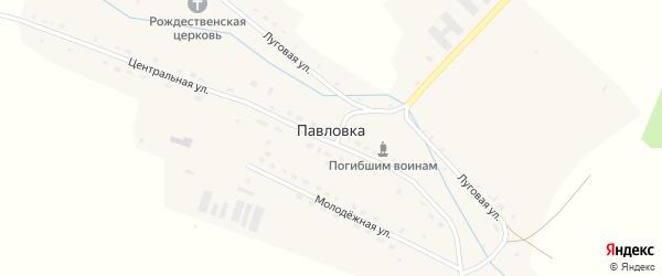 Центральная улица на карте села Павловки Ульяновской области с номерами домов