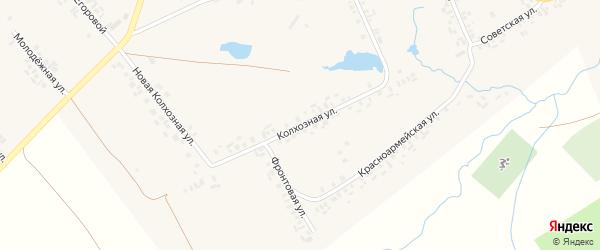 Колхозная улица на карте села Моргаушей с номерами домов