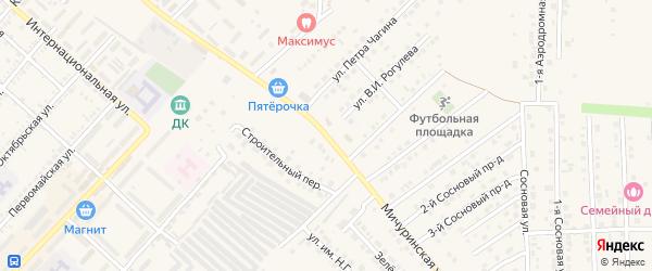 Строительный 2-й переулок на карте Маркса с номерами домов