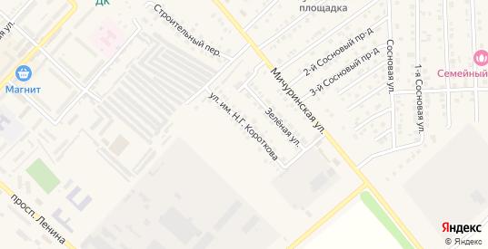 Улица Имени майора милиции Короткова Н.Г. в Марксе с номерами домов на карте. Спутник и схема онлайн
