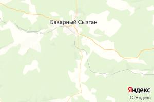 Карта пос. Базарный Сызган Ульяновская область
