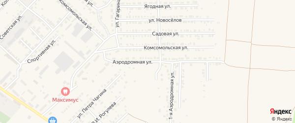 Аэродромная улица на карте Маркса с номерами домов