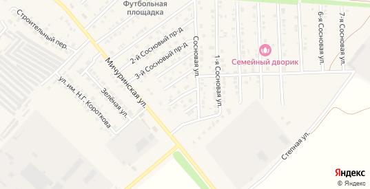 Сосновый 6-й проезд в Марксе с номерами домов на карте. Спутник и схема онлайн