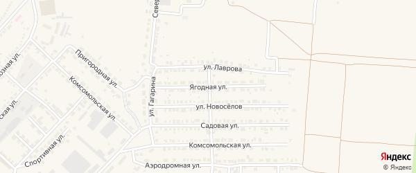 Ягодная улица на карте Маркса с номерами домов