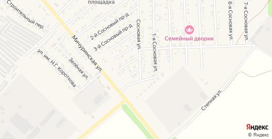 Сосновый 7-й проезд в Марксе с номерами домов на карте. Спутник и схема онлайн