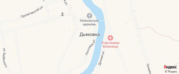 Улица им Калинина на карте села Дьяковки Саратовской области с номерами домов