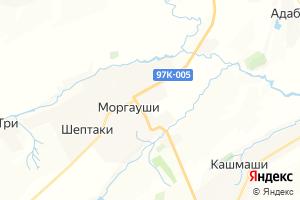 Карта с. Моргауши Чувашская Республика