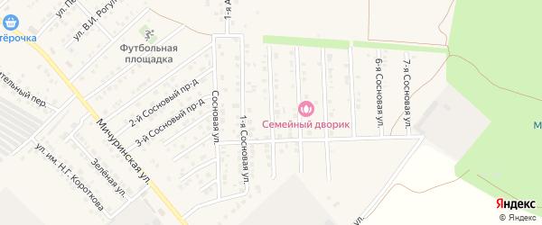 Сосновая 2-я улица на карте Маркса с номерами домов