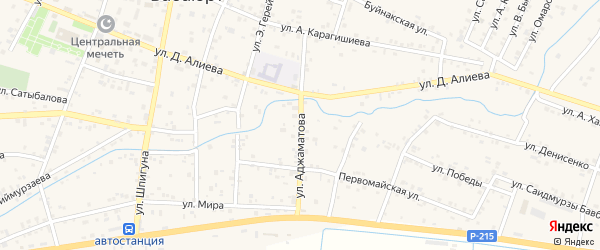 Улица Аджаматова на карте села Бабаюрта с номерами домов