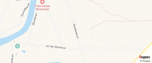 Линейная улица на карте села Дьяковки Саратовской области с номерами домов