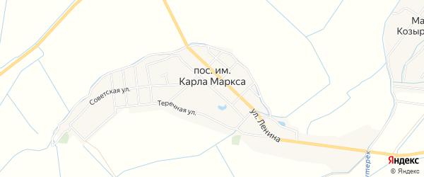 Карта села им Карла Маркса в Дагестане с улицами и номерами домов