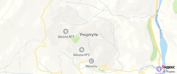 Карта села Унцукуля в Дагестане с улицами и номерами домов