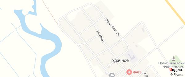 Первомайский переулок на карте Удачного села Астраханской области с номерами домов
