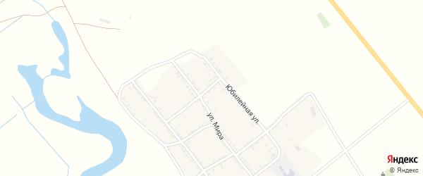 Северный переулок на карте Удачного села Астраханской области с номерами домов
