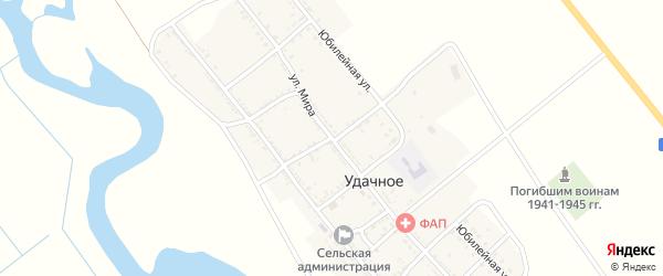 Степной переулок на карте Удачного села Астраханской области с номерами домов