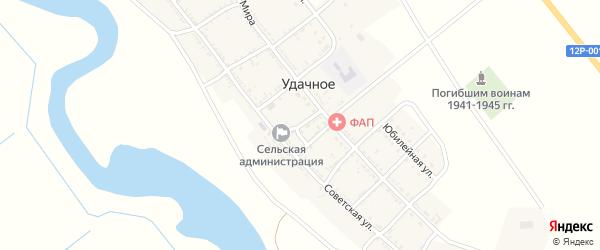 Почтовый переулок на карте Удачного села Астраханской области с номерами домов
