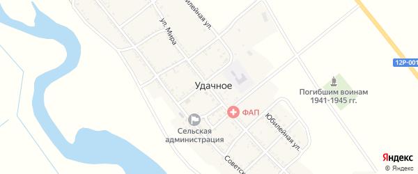 Улица Мира на карте Удачного села Астраханской области с номерами домов