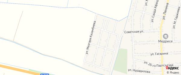 Улица Мазгара Казанбиева на карте села Зубутли-Миатли с номерами домов