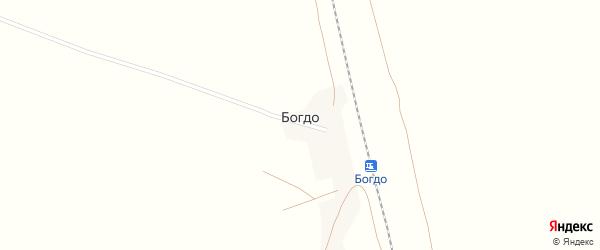 Железнодорожная улица на карте поселка Богдо Астраханской области с номерами домов