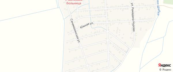 Махачкалинская улица на карте села Нового Костека с номерами домов